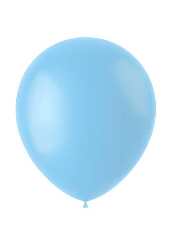 Ballonnen Powder Blue Mat - 33cm - 10 stuks