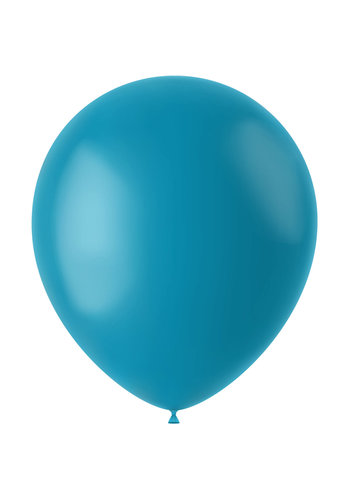 Ballonnen Calm Turquoise Mat - 33cm - 10 stuks
