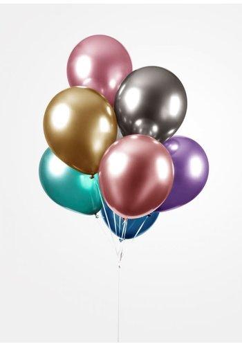 Ballonnen Chrome Mix Colors - 25 st - 30cm