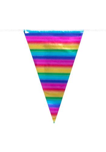 Regenboog Vlaggenlijn - 10 mtr