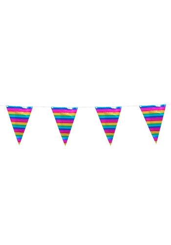 Regenboog Vlaggenlijn XL - 10 mtr