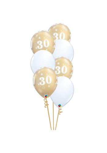 Staander Chique met leeftijd - 7 Heliumballonnen