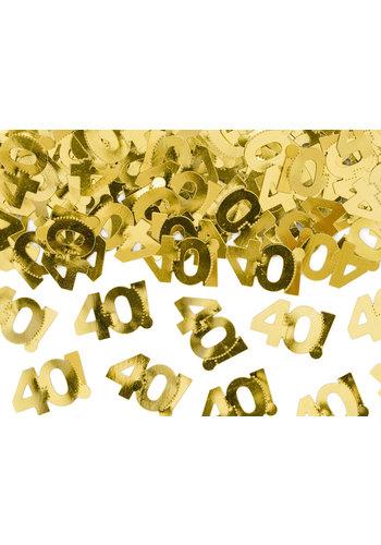 Tafel Confetti 40 Goud - 15 gram
