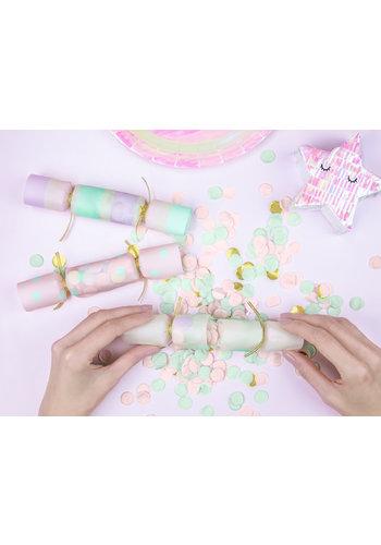 Confetti Crackers - mix - 6st -3x17x3,5cm