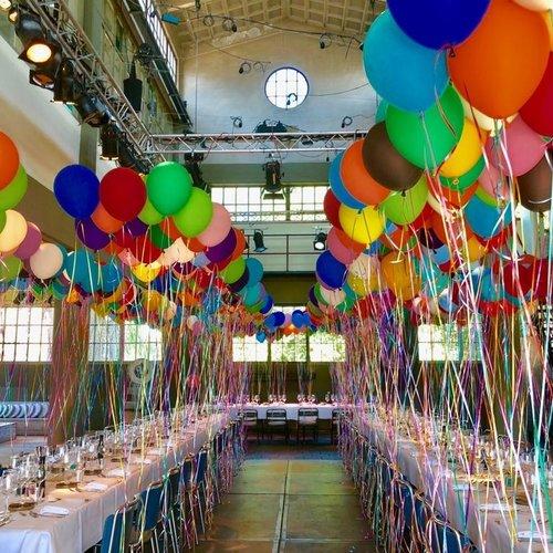 Helium gevulde ballonnen