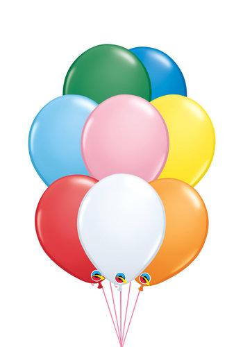 Tros van 10 Helium Ballonnen - Standaard Kleuren