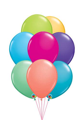 Tros van 10 Helium Ballonnen - Fashion Kleuren