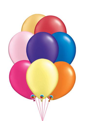 Tros van 10 Helium Ballonnen - Metallic Kleuren