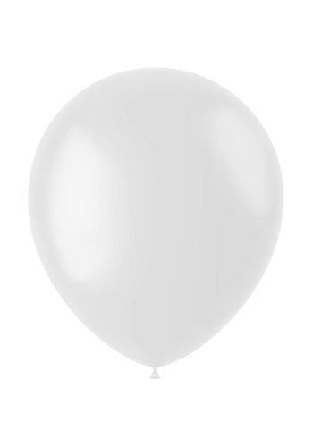 Ballonnen Coconut White Mat - 33cm - 50 stuks