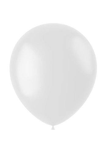 Ballonnen Coconut White Mat - 33cm - 100 stuks