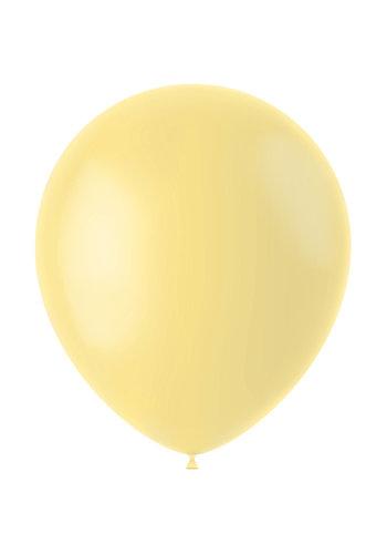 Ballonnen Powder Yellow Mat - 33cm - 50 stuks