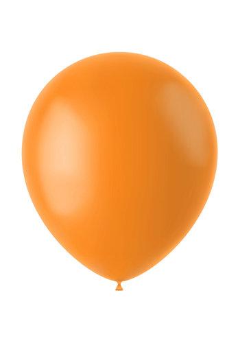 Ballonnen Tangerine Orange Mat - 33cm - 50 stuks