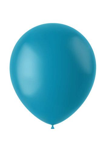 Ballonnen Calm Turquoise Mat - 33cm - 50 stuks