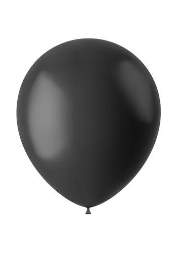 Ballonnen Midnight Black Mat - 33cm - 100 stuks
