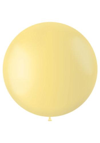 Ballon Powder Yellow Mat - 80cm - 1 stuk