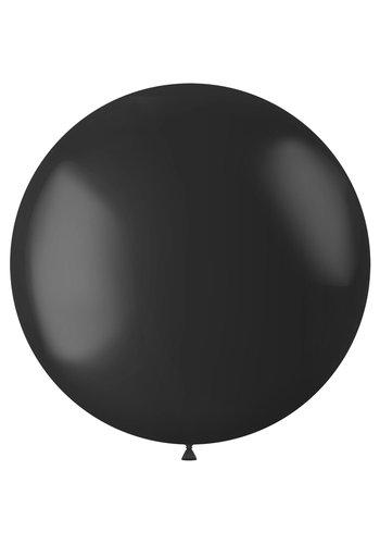 Ballon Midnight Black Mat - 80cm - 1 stuk