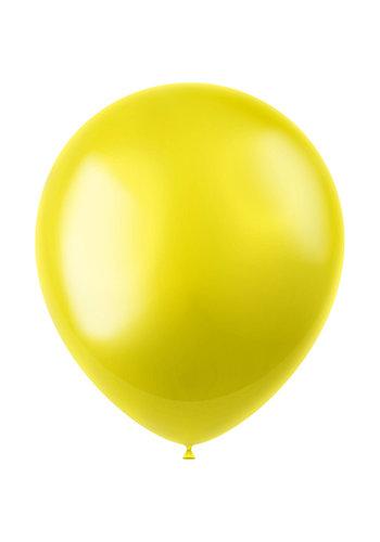 Ballonnen Zesty Yellow Metallic 33cm - 10 stuks
