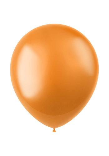 Ballonnen Marigold Orange Metallic 33cm - 10 stuks