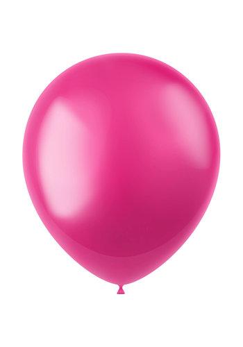 Ballonnen Fuchsia Pink Metallic 33cm - 10 stuks