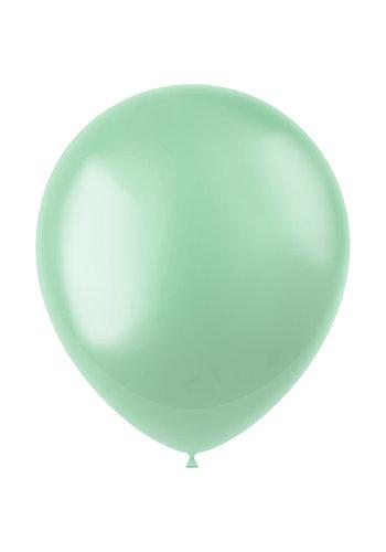 Ballonnen Minty Green Metallic 33cm - 10 stuks