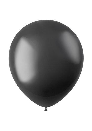 Ballonnen Onyx Black Metallic 33cm - 10 stuks