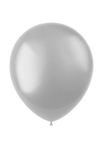 Ballonnen Silver Metallic 33cm - 10 stuks