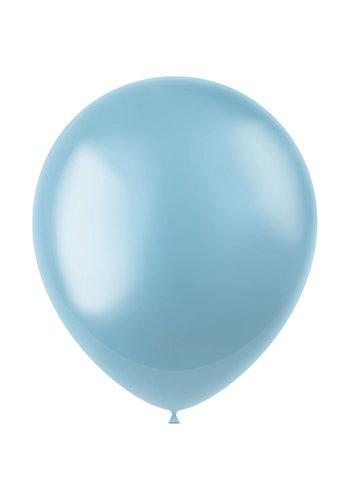 Ballonnen Sky Blue Metallic 33cm - 50 stuks