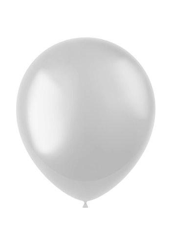 Ballonnen White Metallic 33cm - 100 stuks