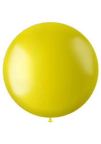 Ballon XL Zesty Yellow Metallic - 78cm - 1 stuk