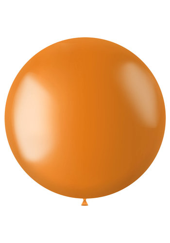 Ballon XL Marigold Orange Metallic - 78cm - 1 stuk