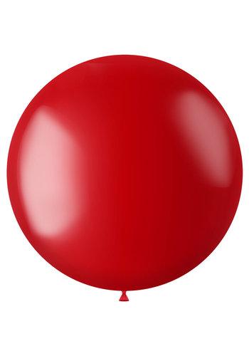 Ballon XL Fiery Red Metallic - 78cm - 1 stuk