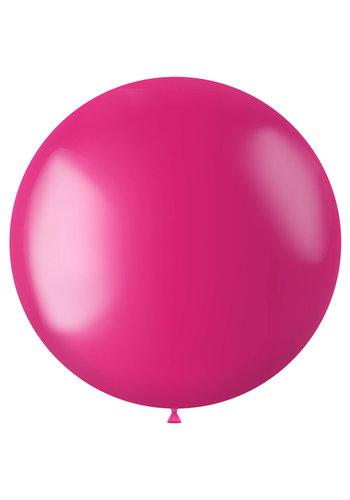 Ballon XL Fuchsia Pink Metallic - 78cm - 1 stuk