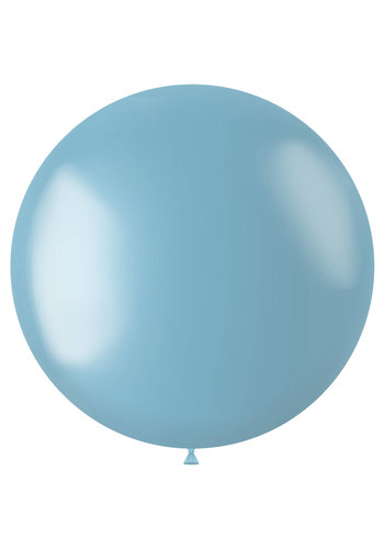Ballon XL Sky Blue Metallic - 78cm - 1 stuk