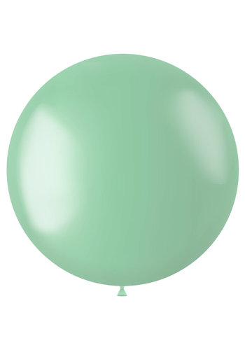 Ballon XL Minty Green Metallic - 78cm - 1 stuk