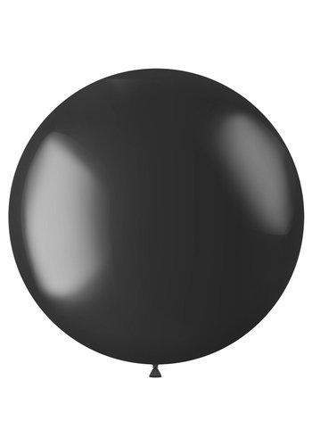 Ballon XL Onyx Black Metallic - 78cm - 1 stuk
