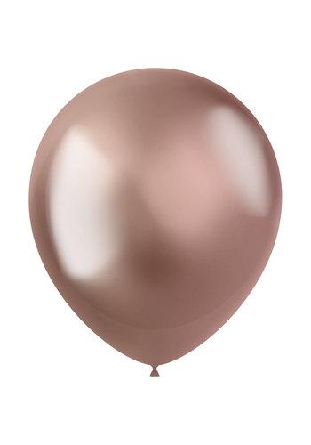 Ballonnen Metal Shine Rose gold - 33cm - 10 stuks