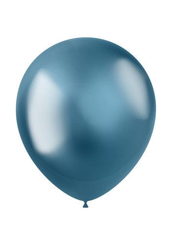 Ballonnen Metal Shine Blue - 33cm - 10 stuks