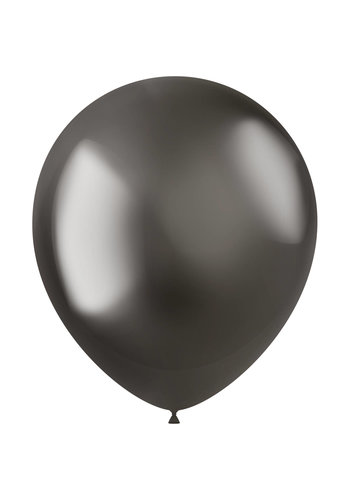 Ballonnen Metal Shine Grey - 33cm - 10 stuks