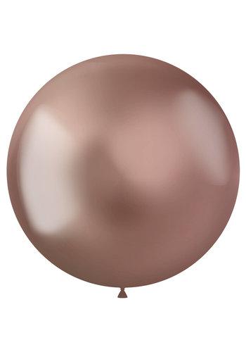 Ballonnen Metal Shine Rosegold - 48cm - 5 stuks