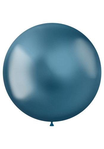 Ballonnen Metal Shine Blue - 48cm - 5 stuks