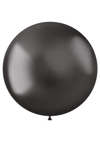Ballonnen Metal Shine Grey - 48cm - 5 stuks