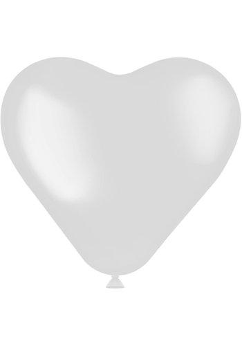 Hartvormige Ballonnen Coconut White 25cm - 8 stuks