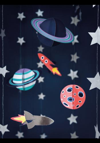 Hangende decoratie Space - 5st