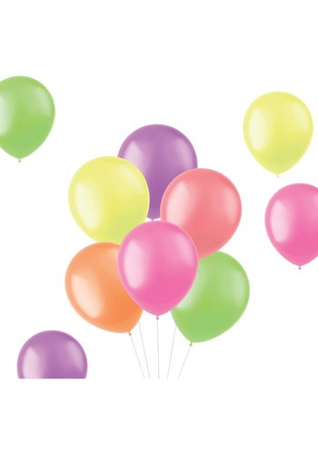 Ballonnen Bright Neons 30cm - 100 stuks
