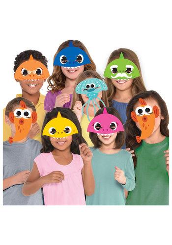 Baby Shark maskers - 8 stuks