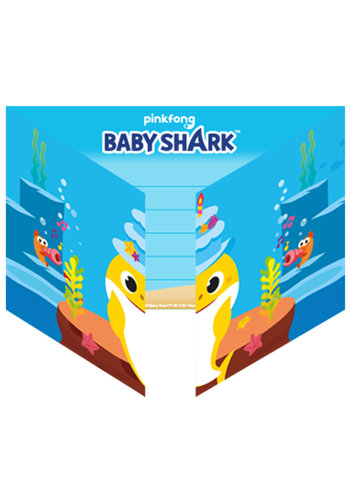 Baby Shark Uitnodigingen - 8 Stuks