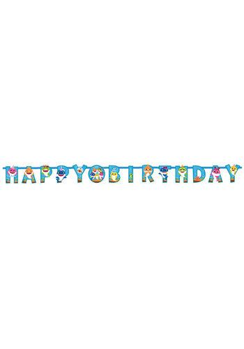 Baby Shark Letterbanner Happy Birthday