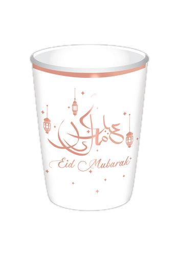 """Bekers """"Eid Mubarak"""" - Rose Goud - 8 st -35cl"""