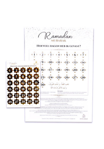 "Kalender ""Eid Mubarak"" met stickervel Goud"