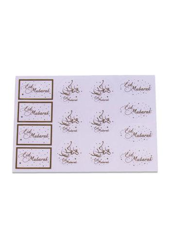 Cadeau labels transparant Goud - 14st